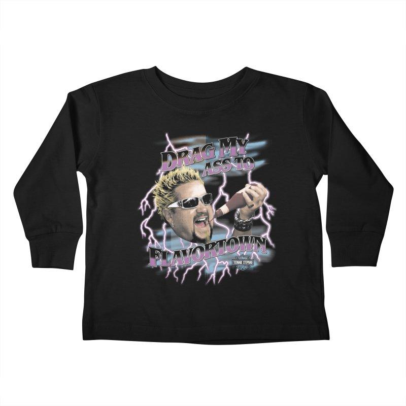 HIGHWAY TO FLAVORTOWN Kids Toddler Longsleeve T-Shirt by Teenage Stepdad