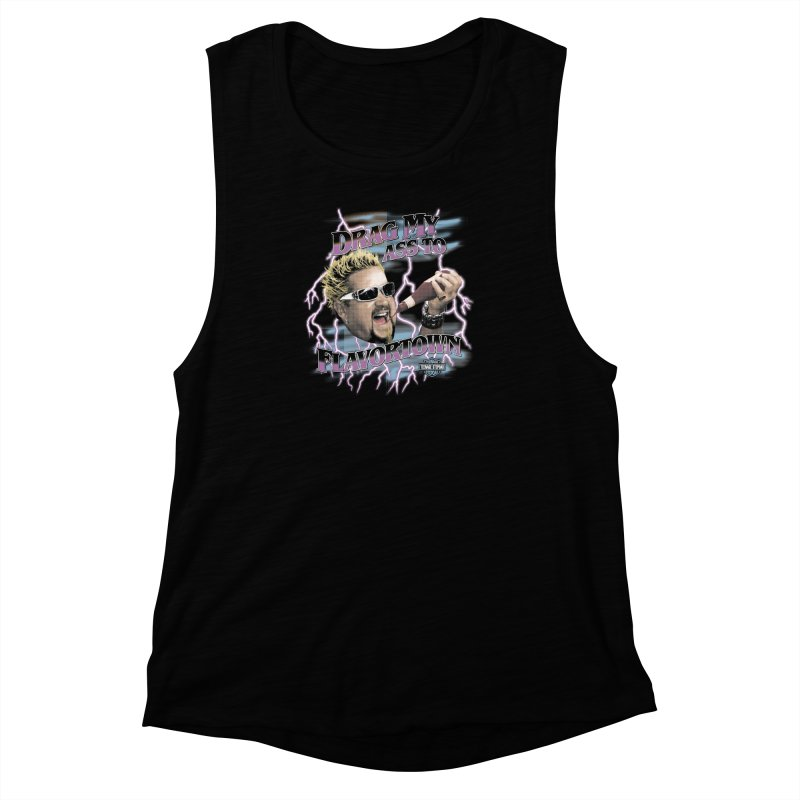 HIGHWAY TO FLAVORTOWN Women's Muscle Tank by Teenage Stepdad