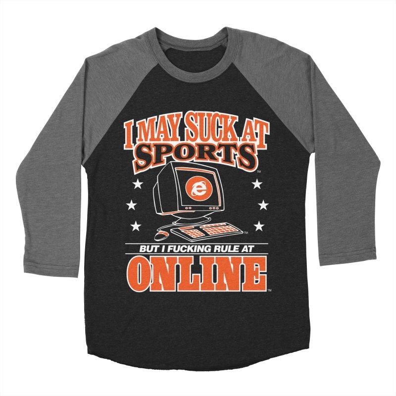 INTERNET CHAMPION Women's Baseball Triblend Longsleeve T-Shirt by Teenage Stepdad