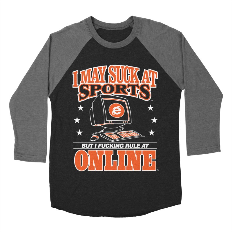INTERNET CHAMPION Men's Baseball Triblend Longsleeve T-Shirt by Teenage Stepdad