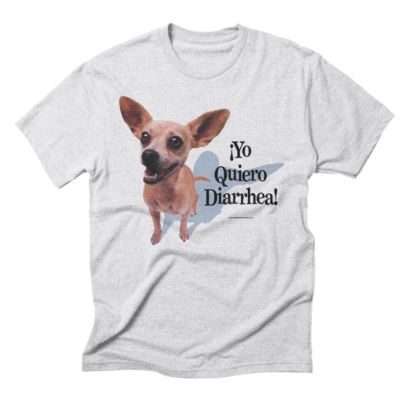 YO QUIERO DIARRHEA in Men's Triblend T-Shirt Heather White by Teenage Stepdad