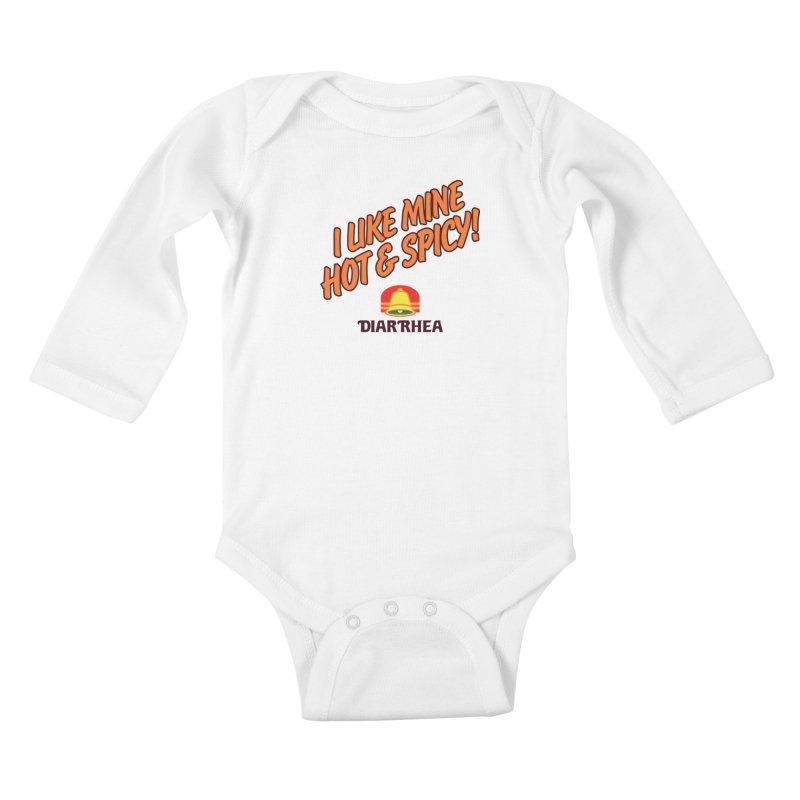 HOT & SPICY Kids Baby Longsleeve Bodysuit by Teenage Stepdad