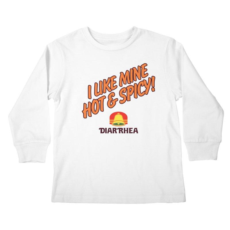 HOT & SPICY Kids Longsleeve T-Shirt by Teenage Stepdad
