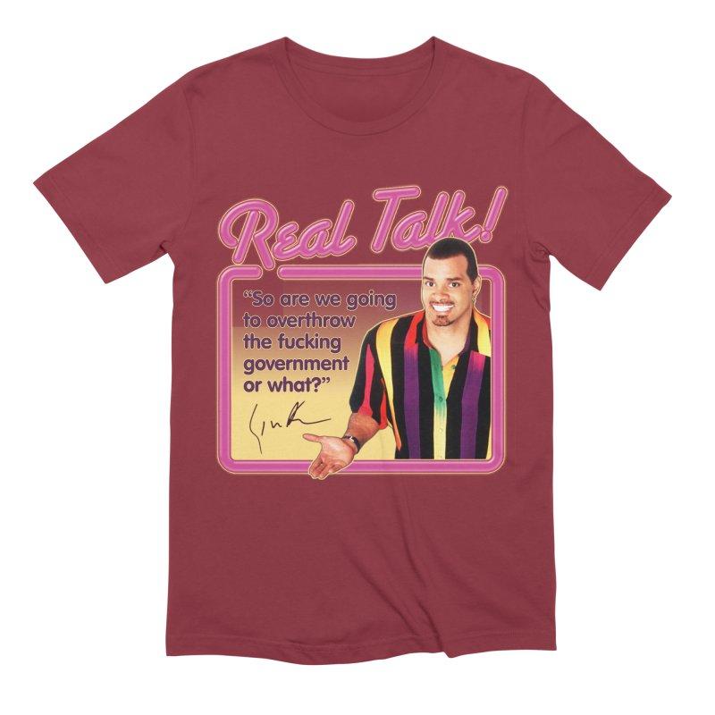 REAL TALK! Men's Extra Soft T-Shirt by Teenage Stepdad