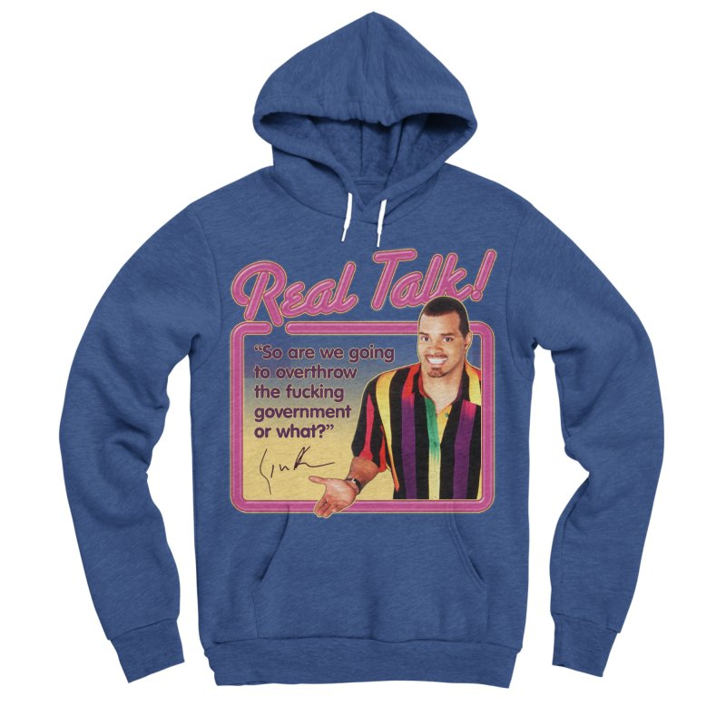 REAL TALK! Women's Sponge Fleece Pullover Hoody by Teenage Stepdad