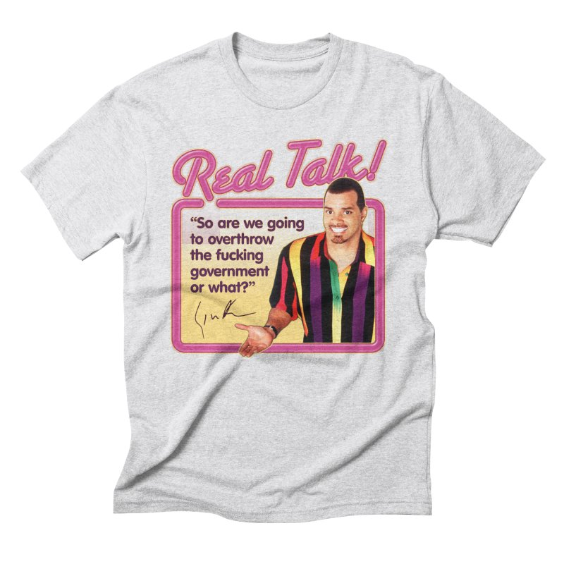 REAL TALK! in Men's Triblend T-Shirt Heather White by Teenage Stepdad
