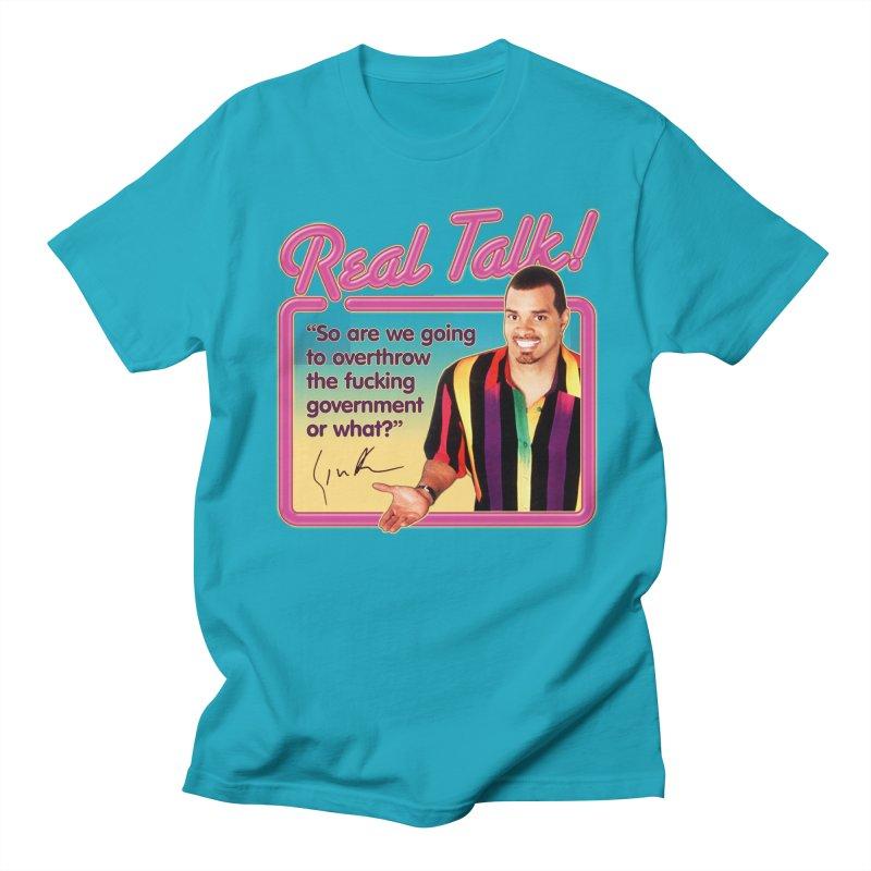 REAL TALK! Men's Regular T-Shirt by Teenage Stepdad