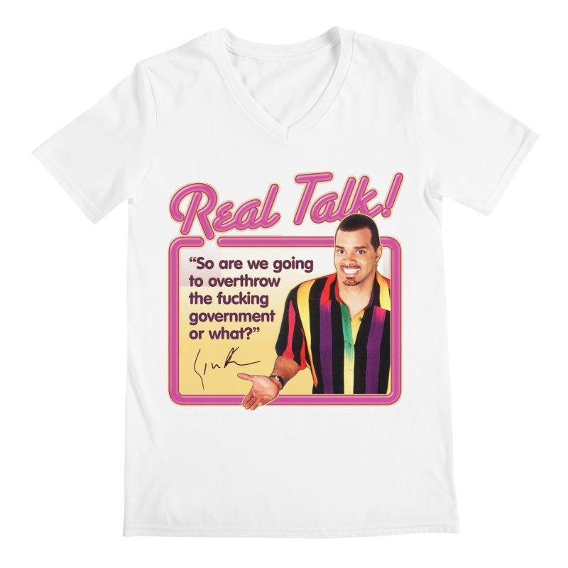 REAL TALK! Men's Regular V-Neck by Teenage Stepdad