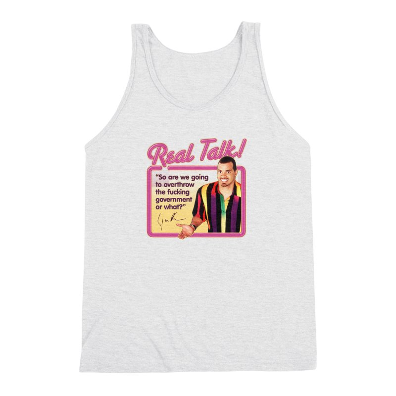 REAL TALK! Men's Triblend Tank by Teenage Stepdad