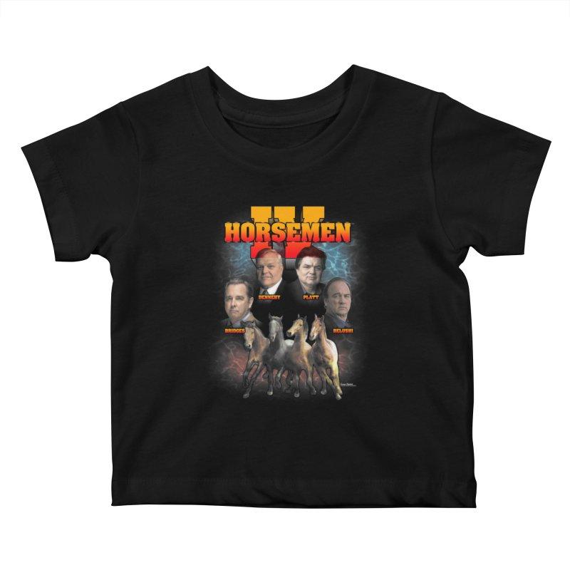 FOUR HORSEMEN BOOTLEG Kids Baby T-Shirt by Teenage Stepdad