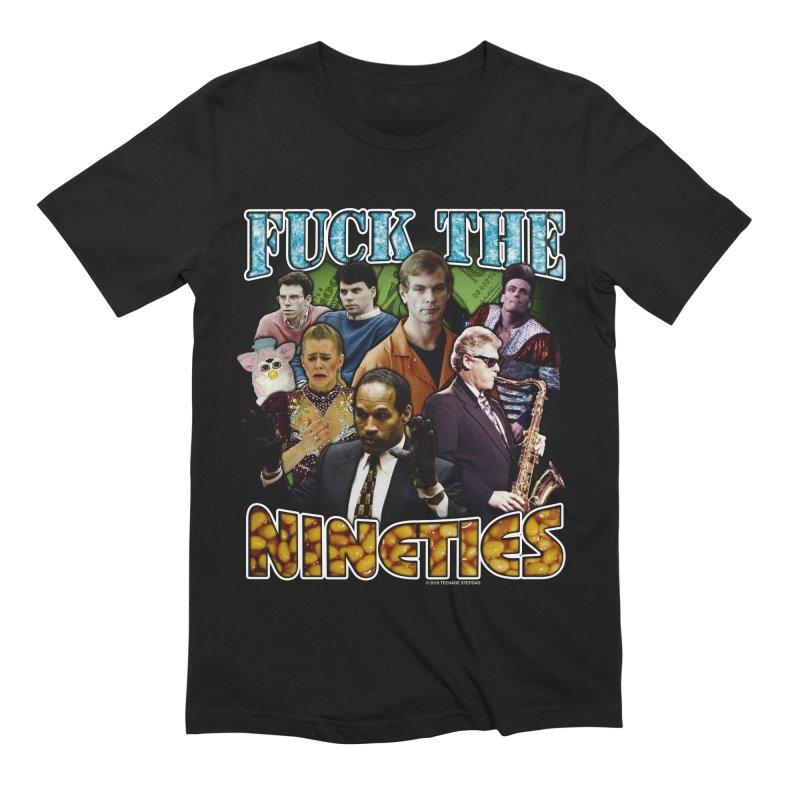 FUCK THE NINETIES BOOTLEG in Men's Extra Soft T-Shirt Black by Teenage Stepdad