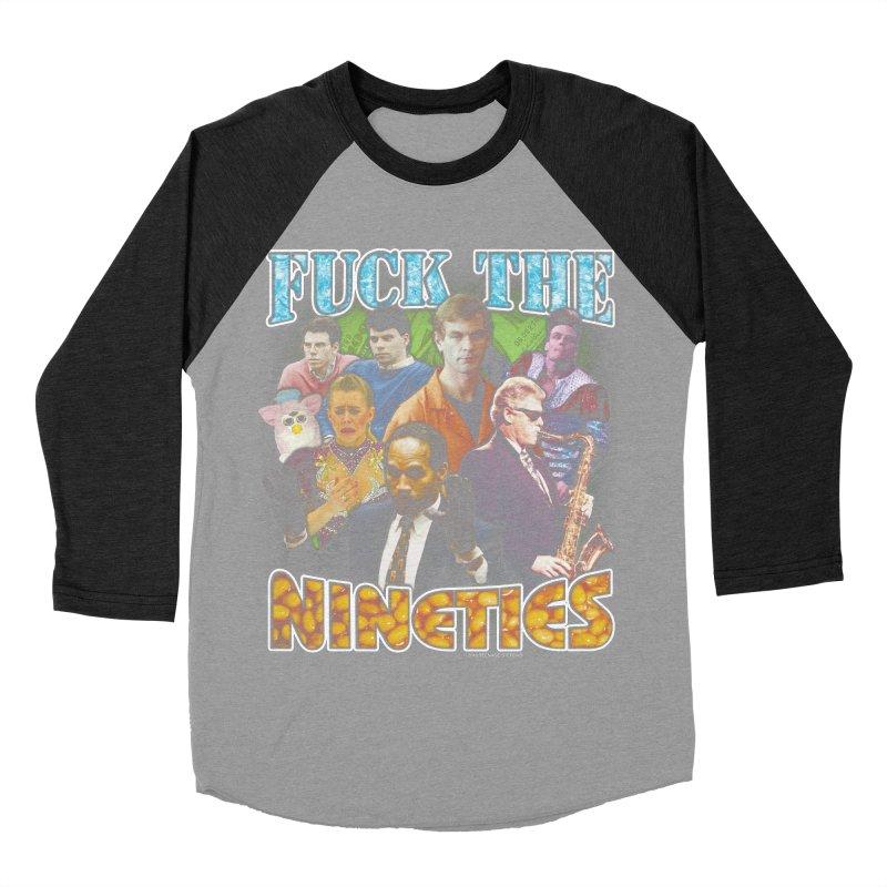 FUCK THE NINETIES BOOTLEG Women's Baseball Triblend Longsleeve T-Shirt by Teenage Stepdad