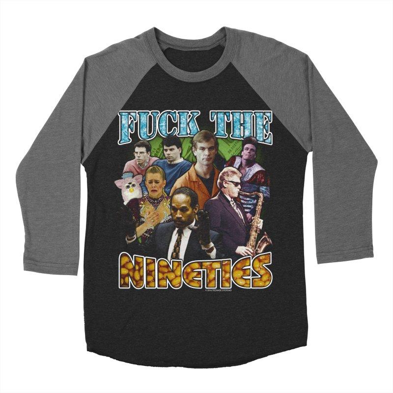 FUCK THE NINETIES BOOTLEG Men's Baseball Triblend Longsleeve T-Shirt by Teenage Stepdad