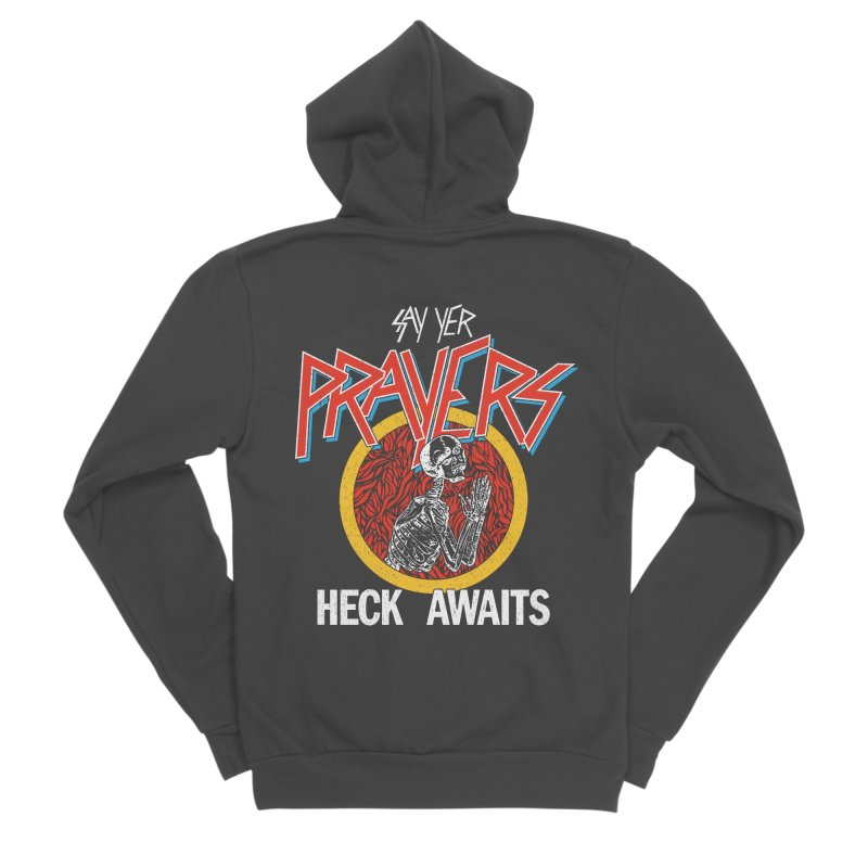 HECK AWAITS Women's Sponge Fleece Zip-Up Hoody by Teenage Stepdad