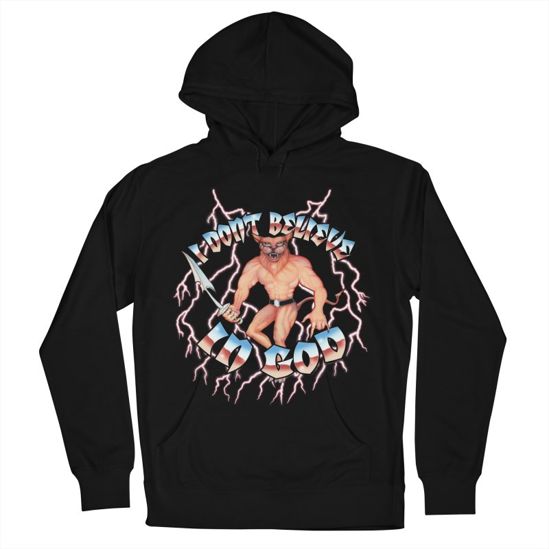 I DON'T BELIEVE IN GOD Men's Pullover Hoody by Teenage Stepdad