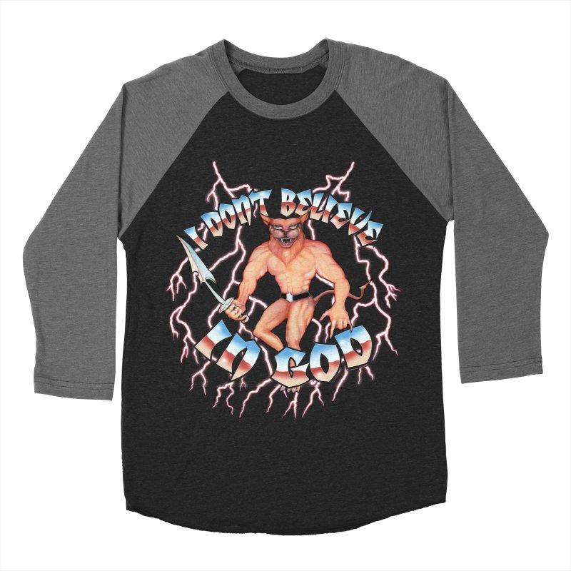 I DON'T BELIEVE IN GOD Men's Baseball Triblend Longsleeve T-Shirt by Teenage Stepdad