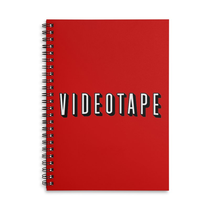 VIDEOTAPE Accessories Lined Spiral Notebook by Teenage Stepdad