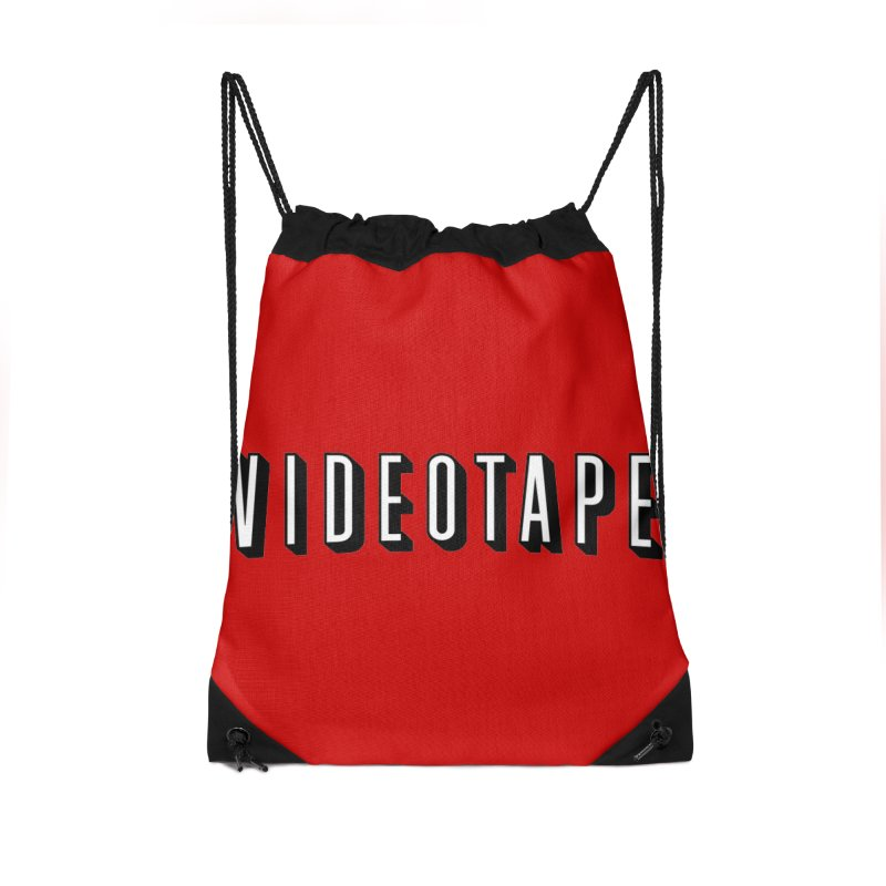 VIDEOTAPE Accessories Drawstring Bag Bag by Teenage Stepdad