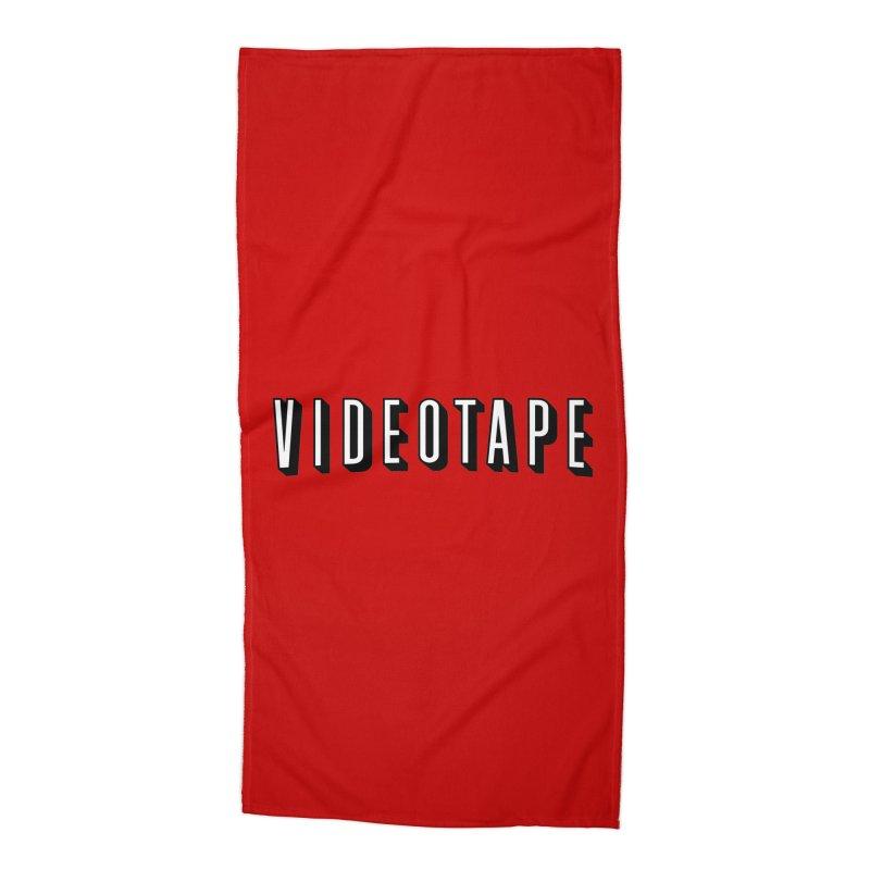 VIDEOTAPE Accessories Beach Towel by Teenage Stepdad