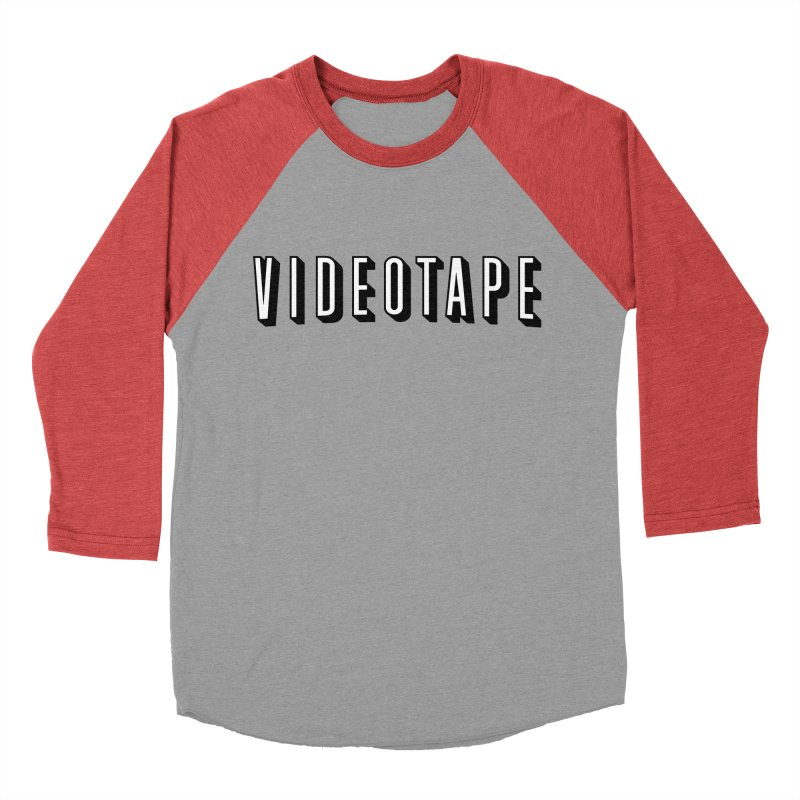 VIDEOTAPE Women's Baseball Triblend Longsleeve T-Shirt by Teenage Stepdad