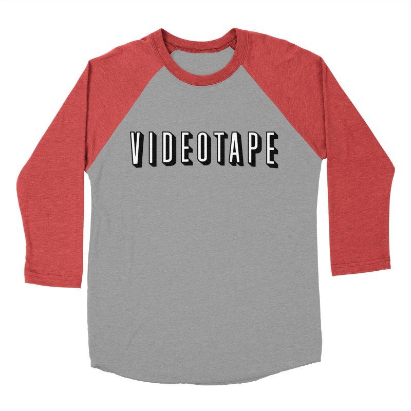 VIDEOTAPE Men's Baseball Triblend Longsleeve T-Shirt by Teenage Stepdad
