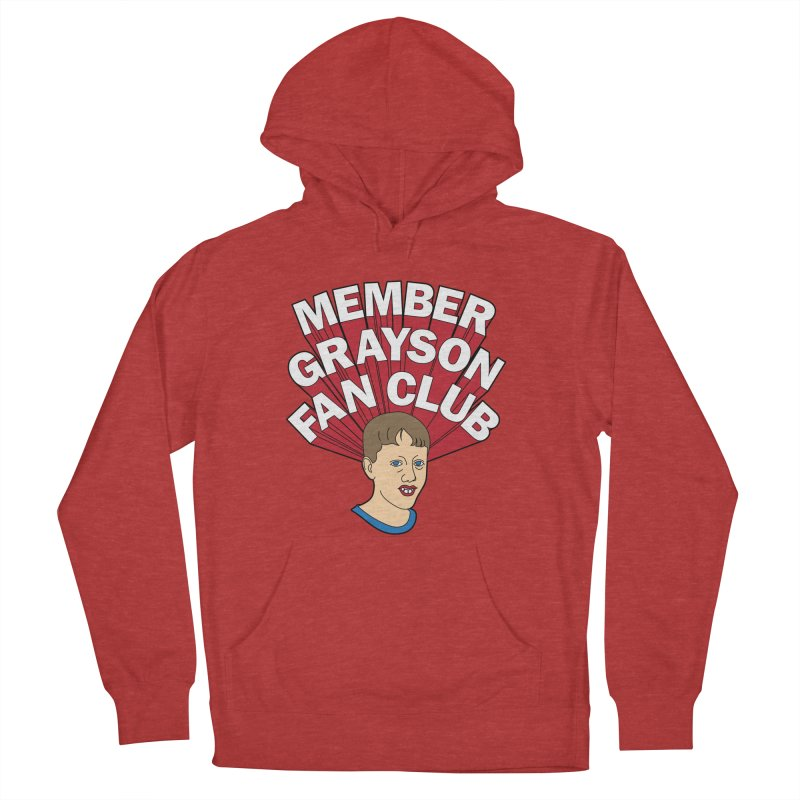 MEMBER GRAYSON FAN CLUB Men's French Terry Pullover Hoody by Teenage Stepdad