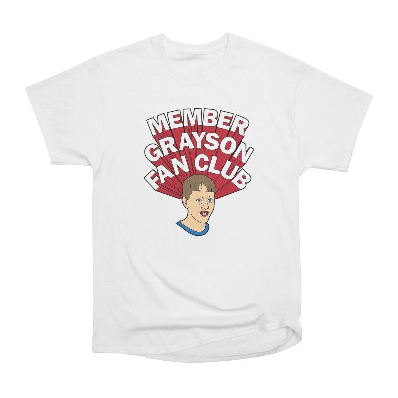 MEMBER GRAYSON FAN CLUB Women's Heavyweight Unisex T-Shirt by Teenage Stepdad