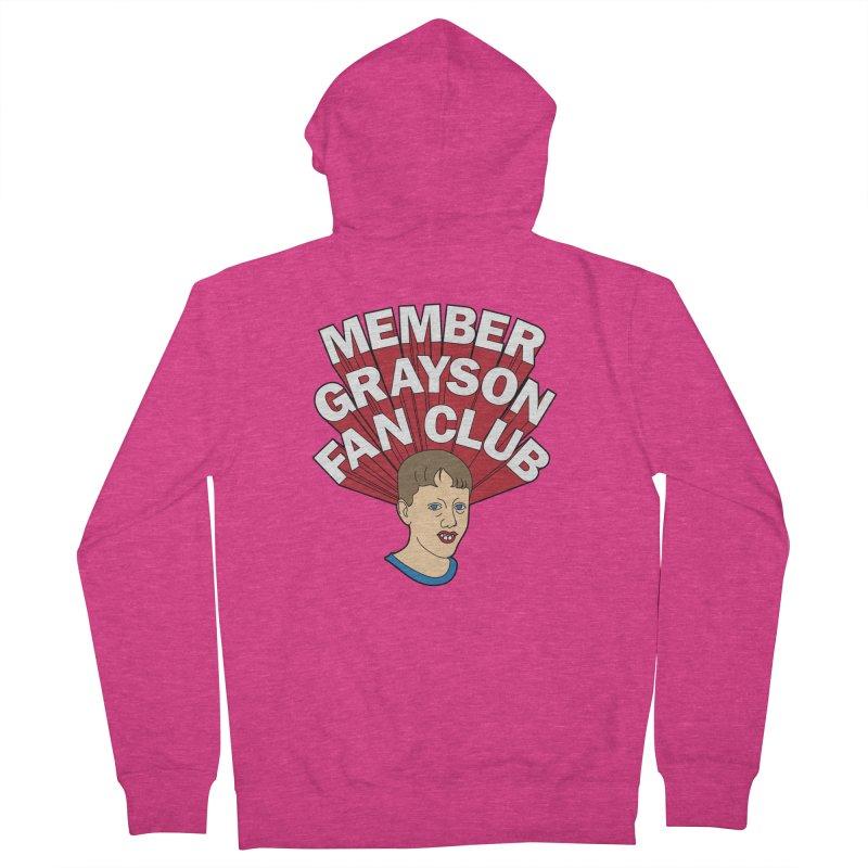 MEMBER GRAYSON FAN CLUB Women's French Terry Zip-Up Hoody by Teenage Stepdad