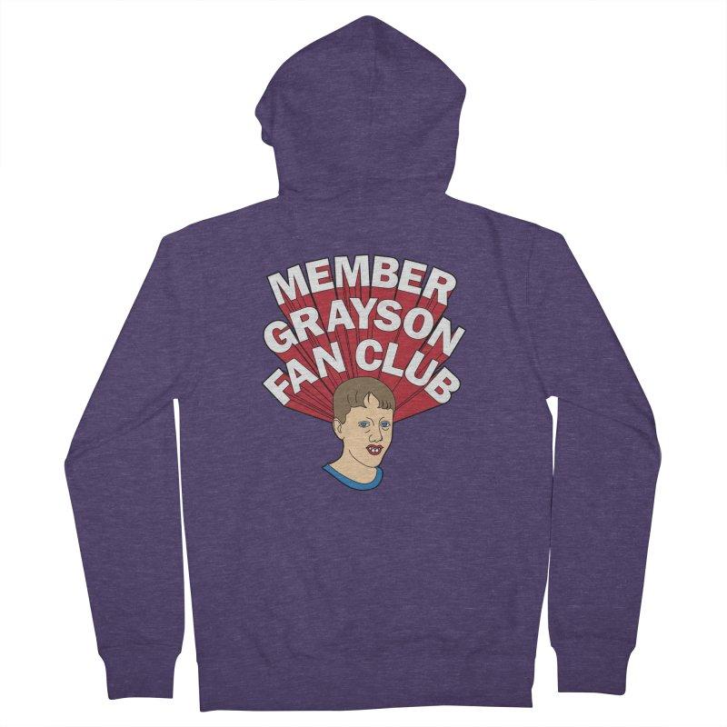 MEMBER GRAYSON FAN CLUB Men's French Terry Zip-Up Hoody by Teenage Stepdad