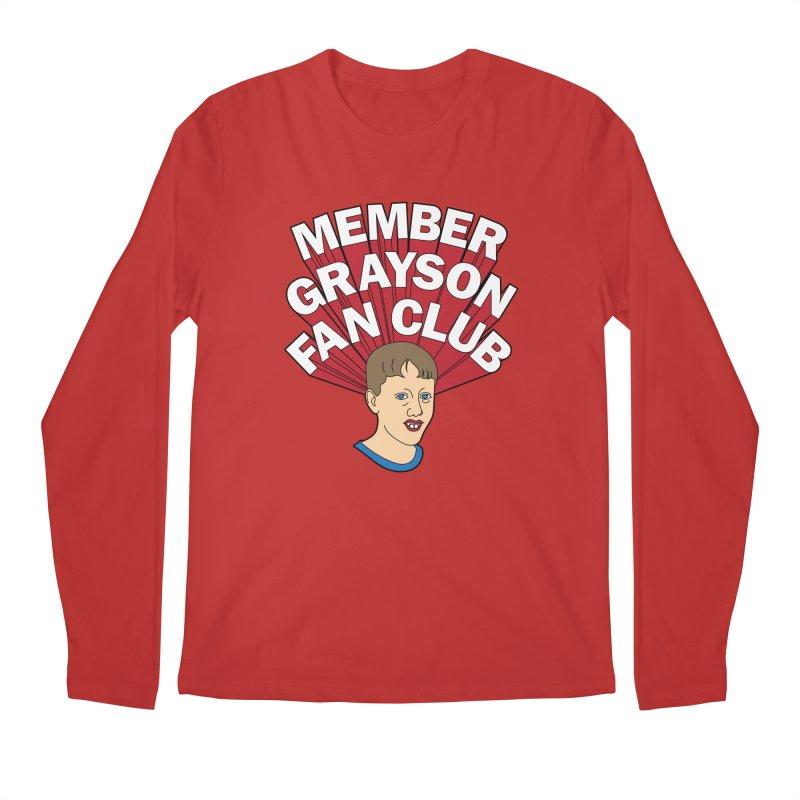 MEMBER GRAYSON FAN CLUB Men's Regular Longsleeve T-Shirt by Teenage Stepdad