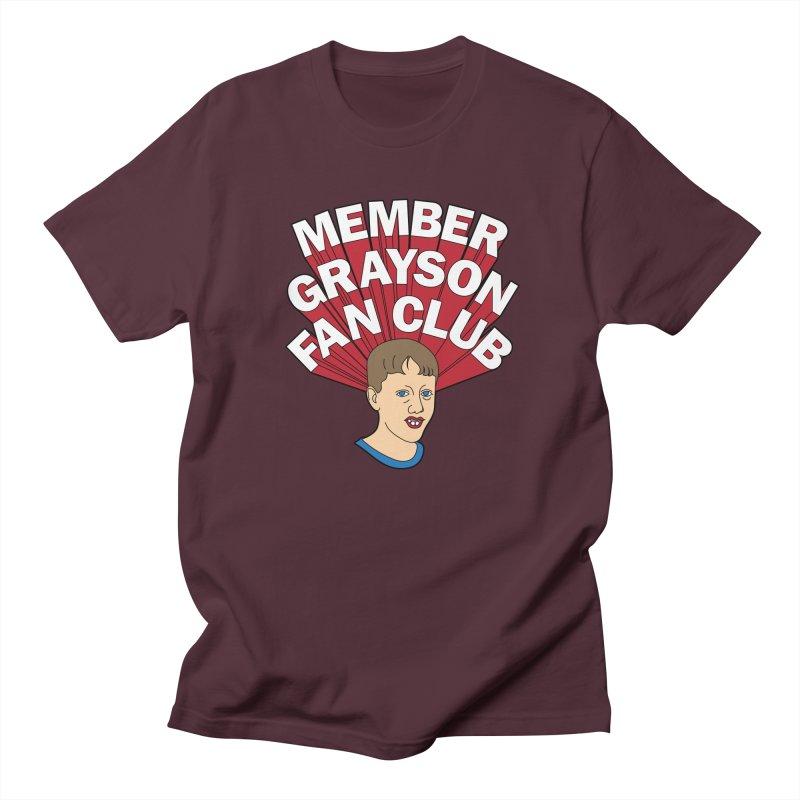 MEMBER GRAYSON FAN CLUB Men's Regular T-Shirt by Teenage Stepdad