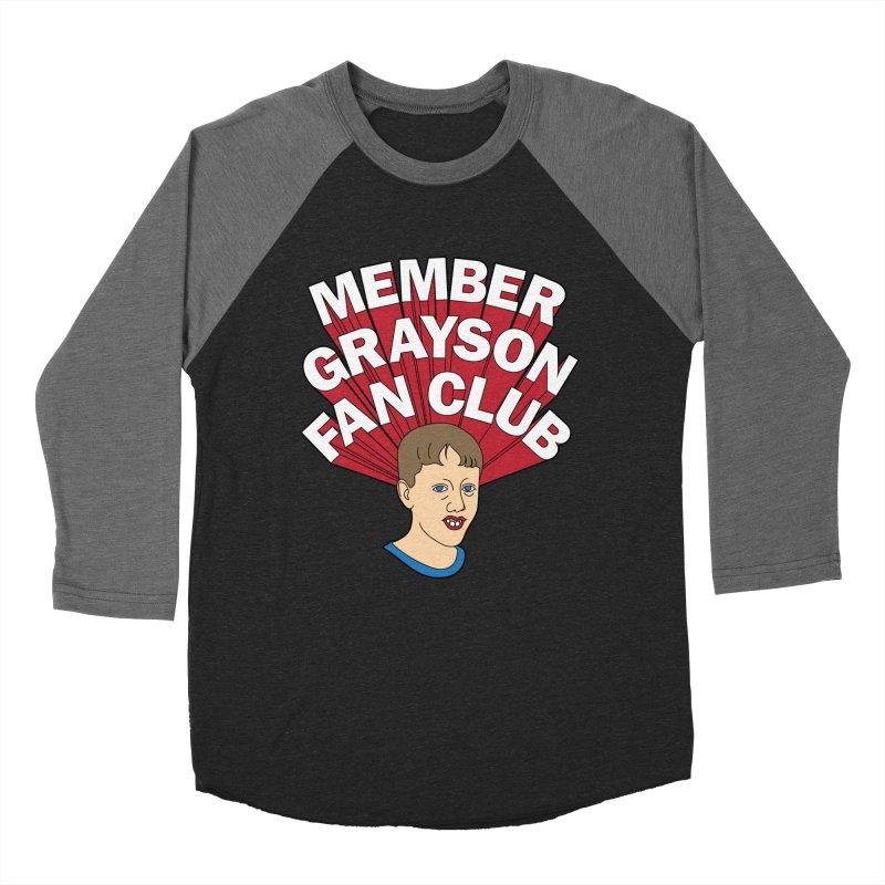 MEMBER GRAYSON FAN CLUB Women's Baseball Triblend Longsleeve T-Shirt by Teenage Stepdad