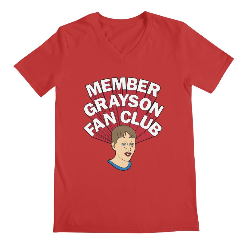 MEMBER GRAYSON FAN CLUB Men's Regular V-Neck by Teenage Stepdad