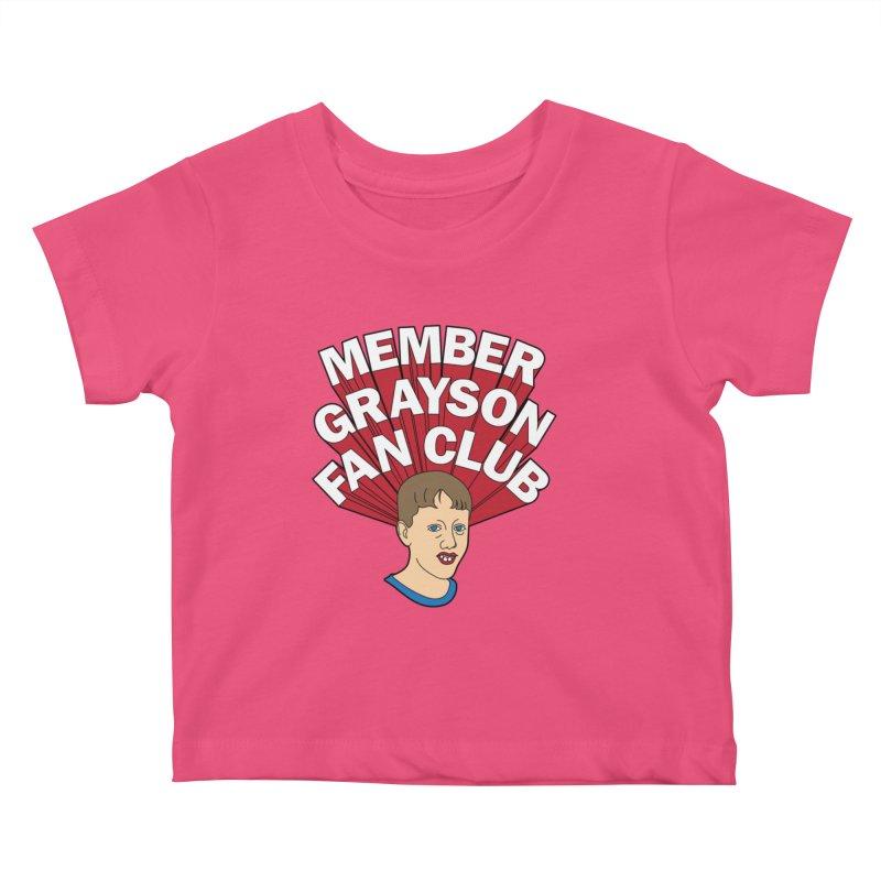 MEMBER GRAYSON FAN CLUB Kids Baby T-Shirt by Teenage Stepdad