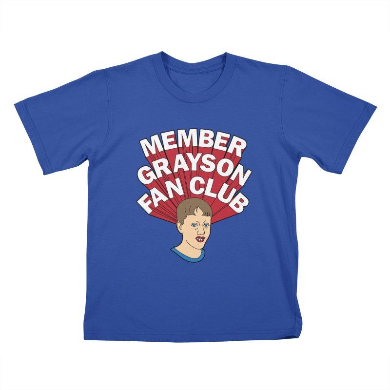 MEMBER GRAYSON FAN CLUB Kids T-Shirt by Teenage Stepdad