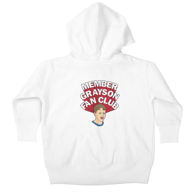 MEMBER GRAYSON FAN CLUB Kids Baby Zip-Up Hoody by Teenage Stepdad