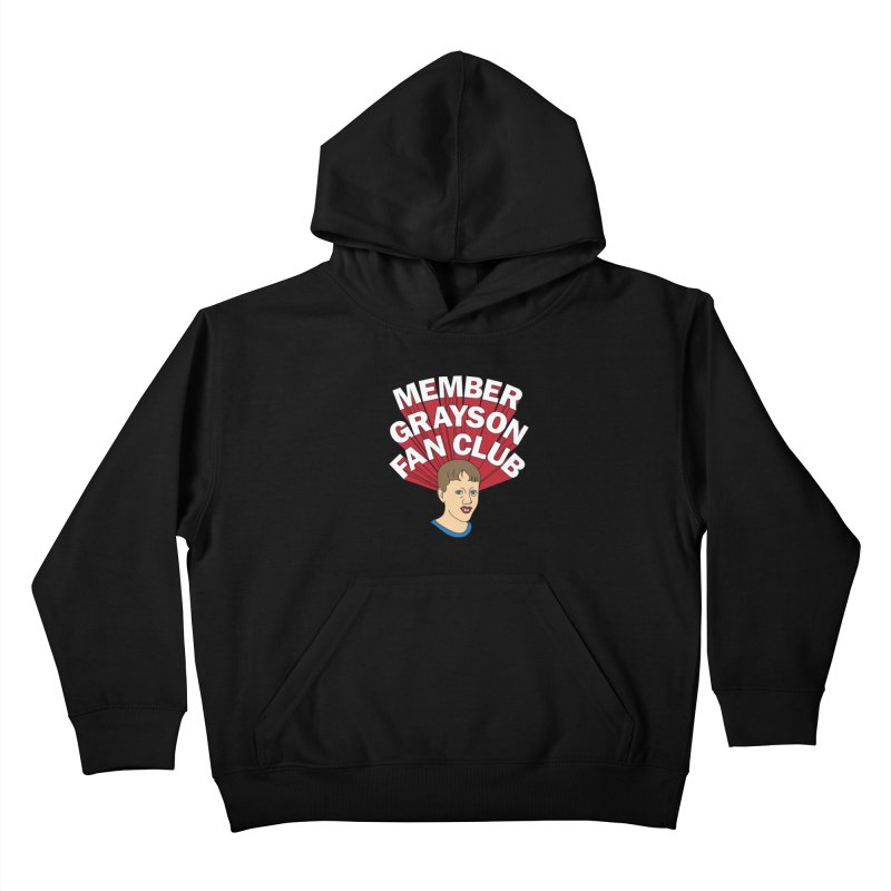 MEMBER GRAYSON FAN CLUB Kids Pullover Hoody by Teenage Stepdad