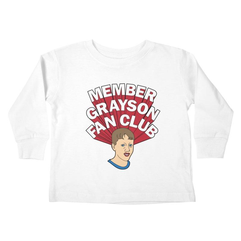 MEMBER GRAYSON FAN CLUB Kids Toddler Longsleeve T-Shirt by Teenage Stepdad