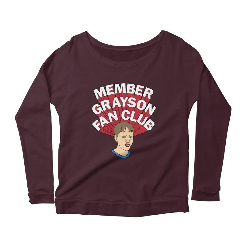 MEMBER GRAYSON FAN CLUB Women's Scoop Neck Longsleeve T-Shirt by Teenage Stepdad