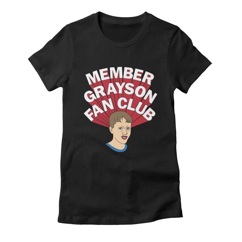 MEMBER GRAYSON FAN CLUB Women's Fitted T-Shirt by Teenage Stepdad