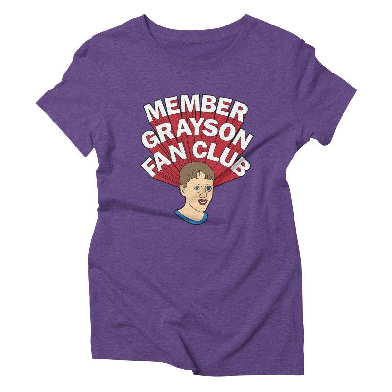 MEMBER GRAYSON FAN CLUB Women's Triblend T-Shirt by Teenage Stepdad