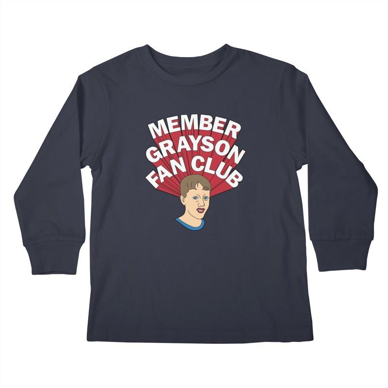 MEMBER GRAYSON FAN CLUB Kids Longsleeve T-Shirt by Teenage Stepdad