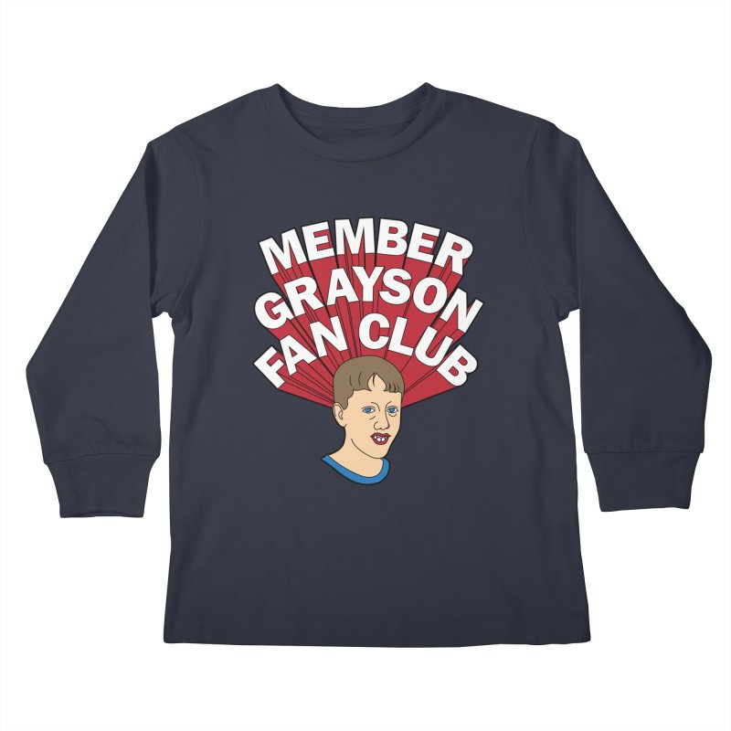 MEMBER GRAYSON FAN CLUB Kids Longsleeve T-Shirt by Teenage Stepdad