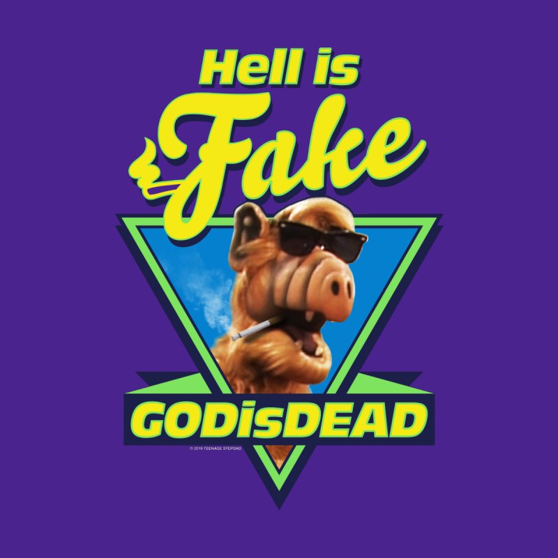 HELL IS FAKE  GOD IS DEAD Accessories Zip Pouch by Teenage Stepdad