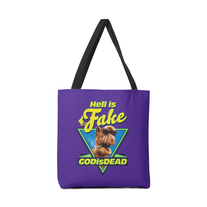 HELL IS FAKE  GOD IS DEAD Accessories Tote Bag Bag by Teenage Stepdad
