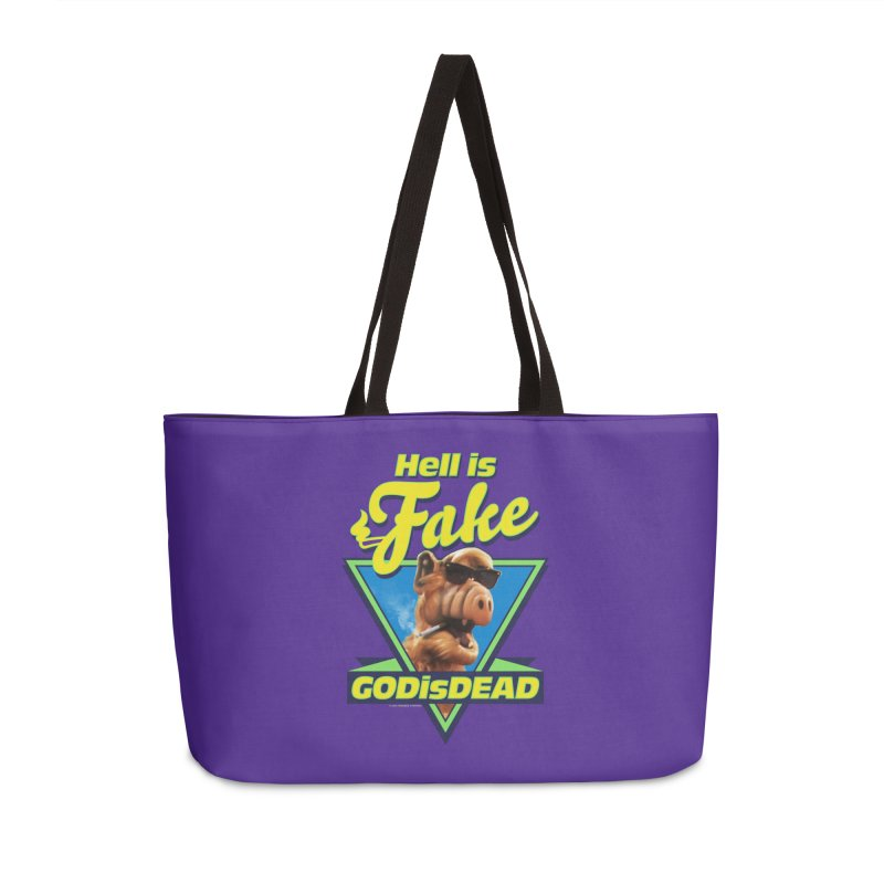 HELL IS FAKE  GOD IS DEAD Accessories Weekender Bag Bag by Teenage Stepdad