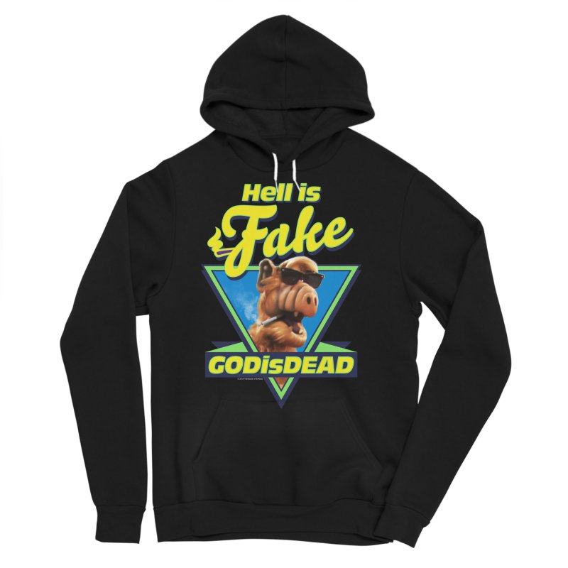 HELL IS FAKE  GOD IS DEAD Men's Sponge Fleece Pullover Hoody by Teenage Stepdad