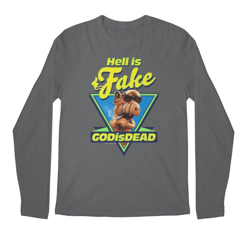HELL IS FAKE  GOD IS DEAD Men's Longsleeve T-Shirt by Teenage Stepdad
