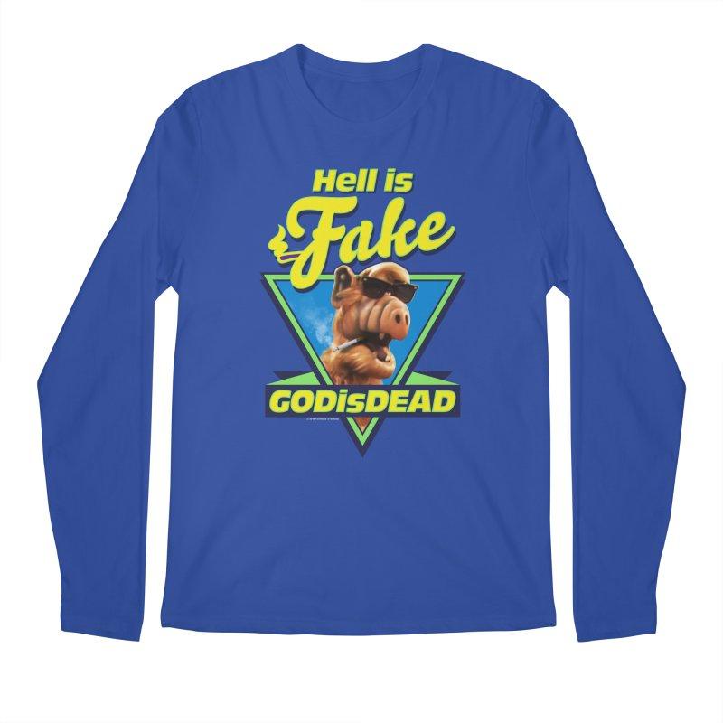 HELL IS FAKE  GOD IS DEAD Men's Regular Longsleeve T-Shirt by Teenage Stepdad