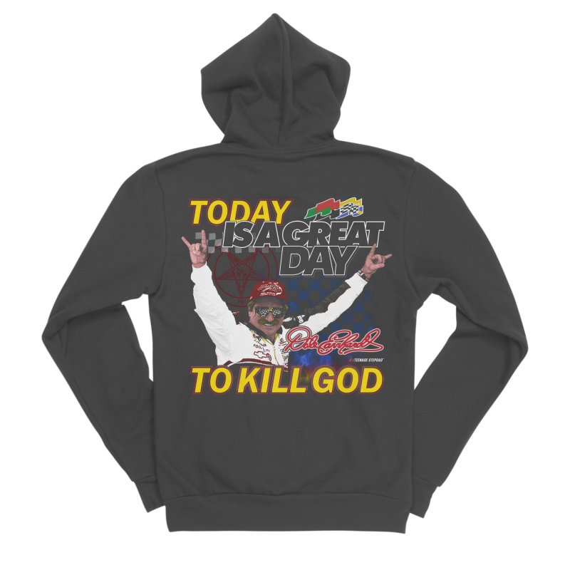 TODAY IS A GREAT DAY TO KILL GOD Men's Sponge Fleece Zip-Up Hoody by Teenage Stepdad